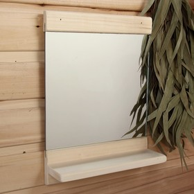 "Зеркало ""Классика"" с полочкой, 34 х 25см - фото 4671613"
