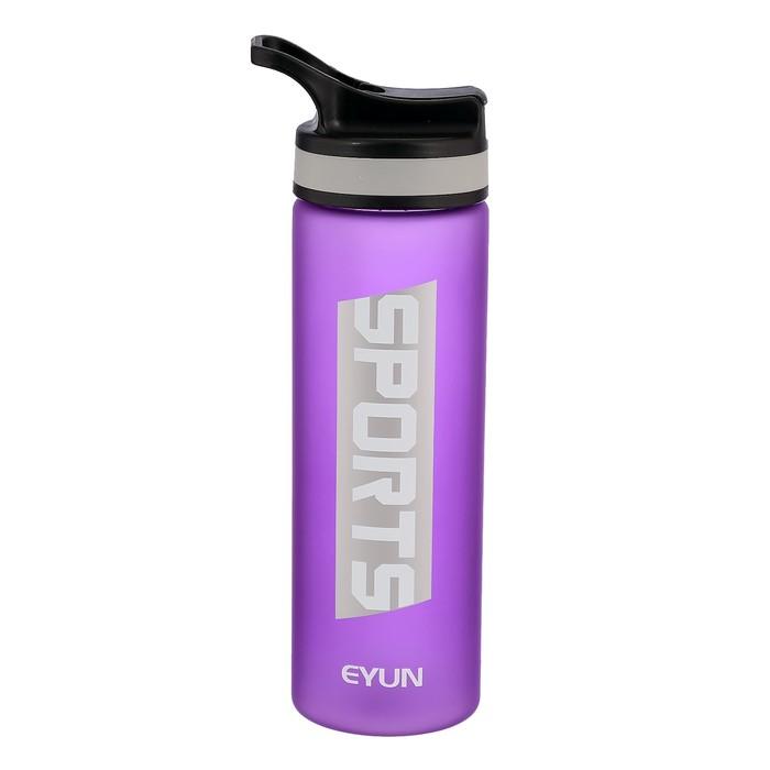 """Бутылка для воды """"Sports"""", 750 мл, матовая, микс, 7х9х26 см"""
