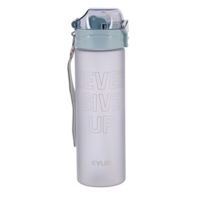 """Бутылка для воды """"Never Give Up"""", 600 мл, матовая, микс, 8х8х25 см"""