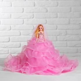 Кукла на подставке «Принцесса», розовое платье с воланами