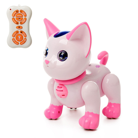Робот радиоуправляемый «Умный котёнок», русское озвучивание, цвет розовый