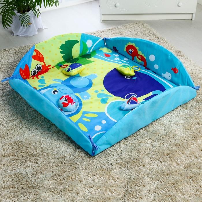 Развивающий коврик - манеж «Вместе веселей», d85см - фото 76132313