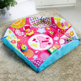 "Tummy time Mat with borders ""Baby"", 4 toys, diameter 85 cm"