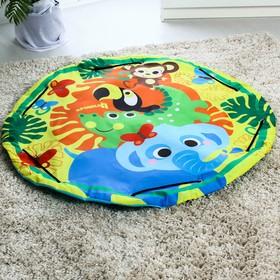 Развивающий коврик - сумка для игрушек «Африка», d100см