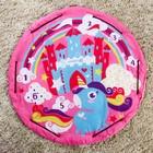 Развивающий коврик - сумка для игрушек «Пони», d100см - фото 105523119