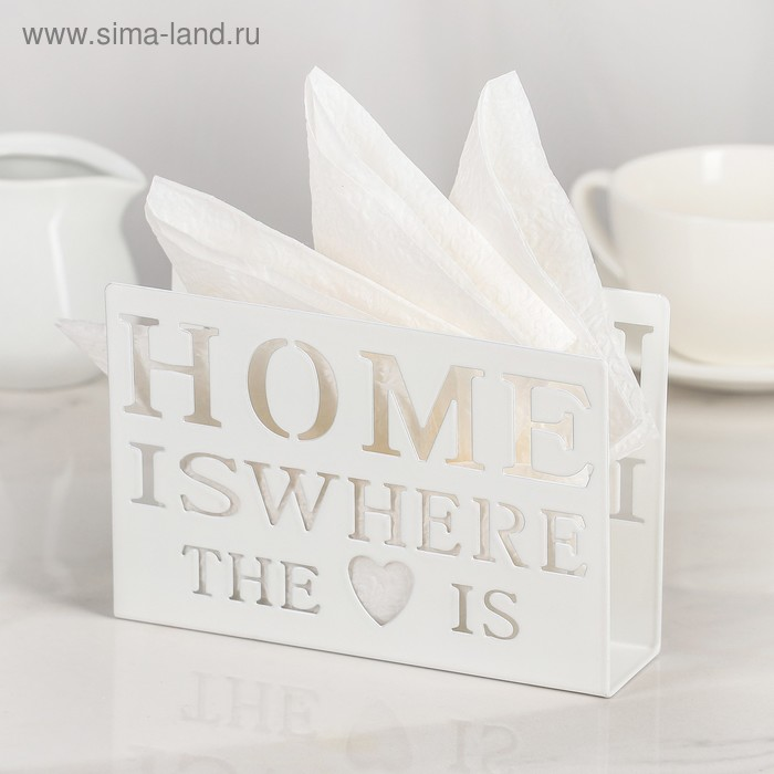 """Napkin holder """"Home is here"""""""