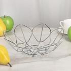 Ваза для фруктов 26,5х8 см, цвет хром