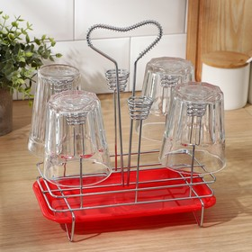 {{photo.Alt    photo.Description    'Сушилка для стаканов Доляна, 23×13×21,5 см, цвет МИКС'}}