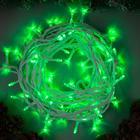 """Гирлянда """"Нить"""" уличная, 10 м, LED-100-220V, 8 режимов, свечение зелёное"""