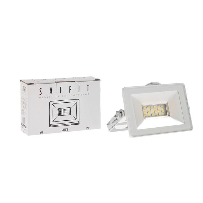 Прожектор светодиодный SAFFIT SFL90-20, 20 Вт, 230 В, 6400 К, 1800 Лм, IP65, 120°, белый
