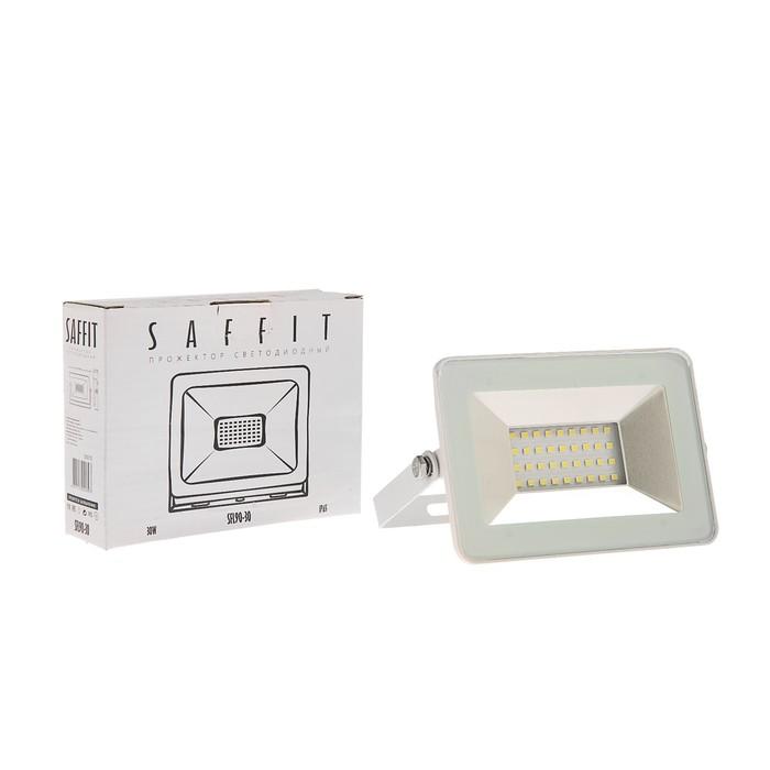 Прожектор светодиодный SAFFIT SFL90-30, 30 Вт, 230 В, 6400 К, 2700 Лм, IP65, 120°, белый