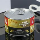 "Piggy metal ""Valentine"" 10х10х6 cm"