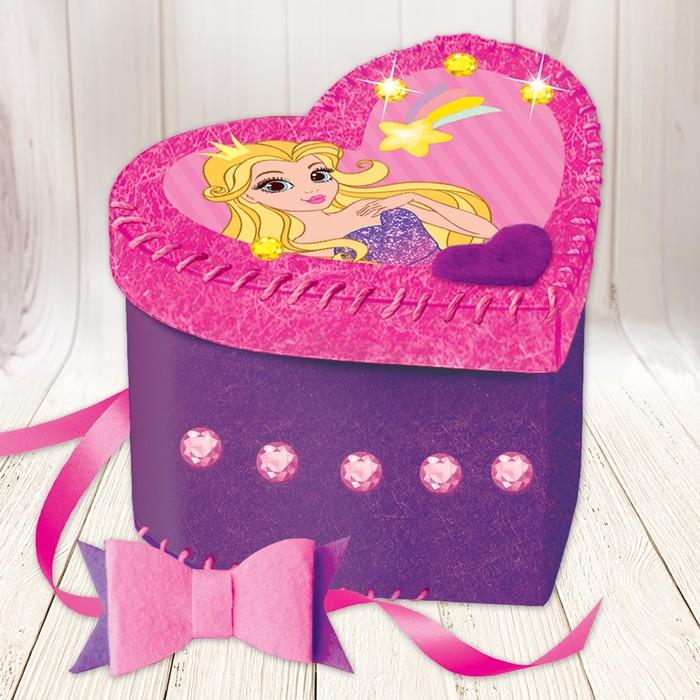 Набор для создания шкатулки из фетра «Принцесса» - фото 691476