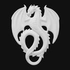 "Панно под роспись ""Большой дракон"" 28х22х2см"