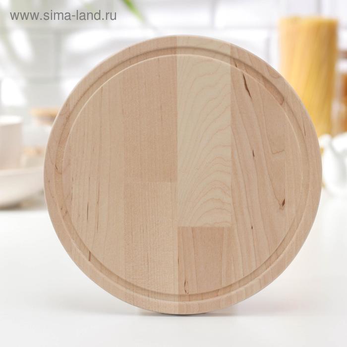 Round cutting Board 25×25 cm, birch