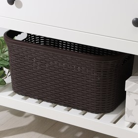 Корзина для глаженого белья Виолет «Ротанг», 32 л, 50×32×24 см, цвет коричневый