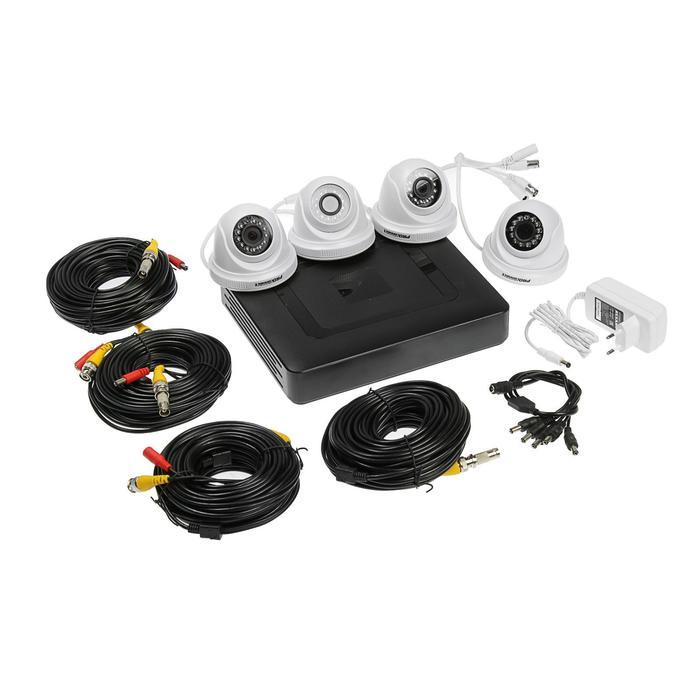 Комплект видеонаблюдения ProConnect, 4 внутренние камеры AHD-M с HDD-1Tб
