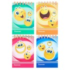 """Notepad A7 40 sheets on the crest Calligrata """"Smiley"""" cover cardboard chrome-ersatz"""