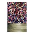 """Фотофон винил """"Стена из цветных роз"""" стена+пол 80х125 см"""