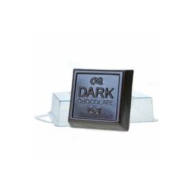 """Пластиковая форма для мыла """"Тёмный шоколад"""" 6,5х6,5х2,5 см"""