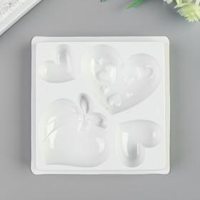 """Пластиковая форма для мыла МК """"Любовь"""" d от 3 до 5,5 см"""
