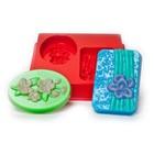 "Пластиковая форма для мыла МК ""Восток"" 8,5х5х2, 9х5,5х2 см"