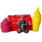 "Пластиковая форма для мыла МК ""Десерт"" 6х4, 11х4, 6х6 см"