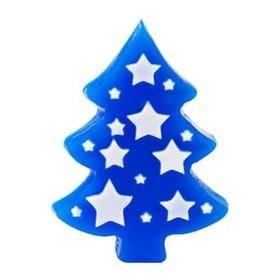 """Пластиковая форма для мыла """"Ель со звездами"""" 10х7,5х1,5 см"""