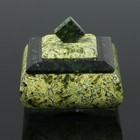 "Шкатулка ""Ларчик"", 8х8х7 см, натуральный камень, змеевик"