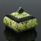 "Casket ""Casket"", 8х8х7 cm, natural stone, serpentine"