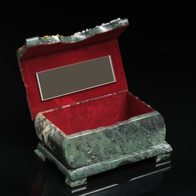 "Ларец ""Осень"" 15х10х7 см, каменная крошка, змеевик"