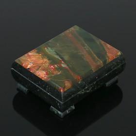 Ларец 10,5х9х5 см, змеевик, яшма