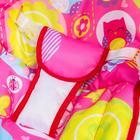 Шезлонг-качалка для новорождённых «Цветы», игровая дуга, съёмные игрушки МИКС - фото 924473