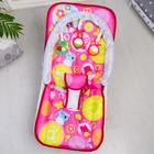 Шезлонг-качалка для новорождённых «Цветы», игровая дуга, съёмные игрушки МИКС - фото 924475