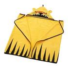 Полотенце с капюшоном ДЬЮНГЕЛЬСКОГ, размер 70х140 см, тигр, цвет желтый