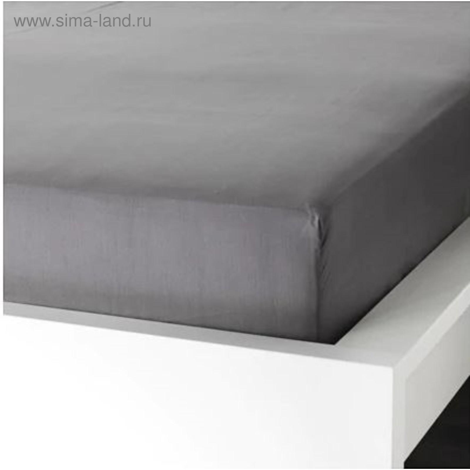 8693b1cafe39 Простыня натяжная УЛЛЬВИДЕ, размер 180х200 см, цвет серый (3985601 ...
