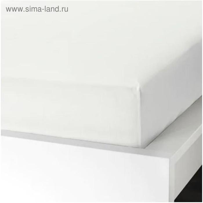 10cc3a107700 Простыня натяжная УЛЛЬВИДЕ, размер 120х200 см, цвет белый (3985621 ...