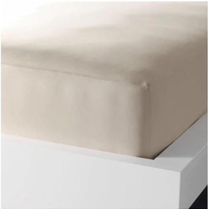 Простыня натяжная ДВАЛА, размер 90х200 см, цвет бежевый