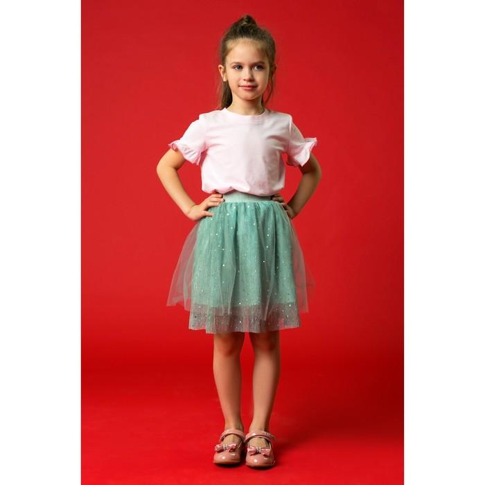"""Юбка для девочки """"Блеск"""", рост 98-104 см, цвет зелёный - фото 726791419"""