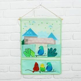 Кармашек для детской комнаты «Птички»