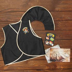 """Carnival set """"Real pirate"""" (vest+badges 4pcs+hat)"""