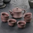 """Набор для чайной церемонии 7 предметов """"Чайный домик"""": чайник 150 мл, 6 чашек 50 мл"""