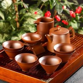 """Набор для чайной церемонии """"Кафей"""", 9 предметов: чайник 15х9,7х10 см, 6 чашек 8х4,5 см, чахай"""