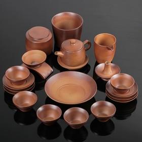 """Набор для чайной церемонии """"Кафей"""", 20 предметов: чайник 15х8х8 см, 6 чашек 7,5х4,5 см, блюдца 10 см, чахай"""