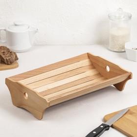 Корзинка для хлеба деревянная «Хозяюшка» большая, бук, 30,5×21×7,6 см в Донецке