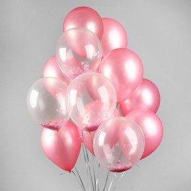 "A bouquet of balloons ""Dream romance"", pink, latex, set 18 PCs."