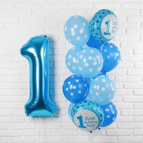 "A bouquet of balloons ""First birthday baby"", foil, latex, set of 13 PCs."