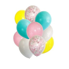 "A bouquet of balloons ""First love,"" latex with confetti, set of 10 PCs"
