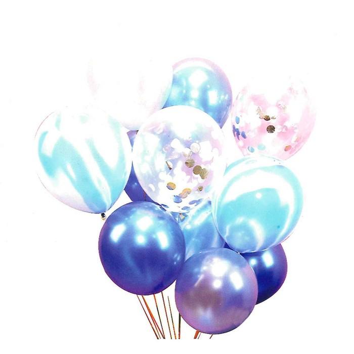 Букет из шаров «Вечеринка», латекс, с конфетти, набор 10 шт. - фото 308468258