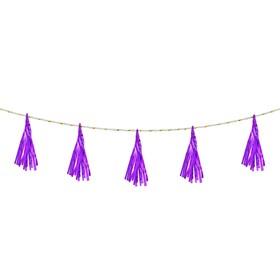 Ribbon tassel, set of 5 PCs, color purple